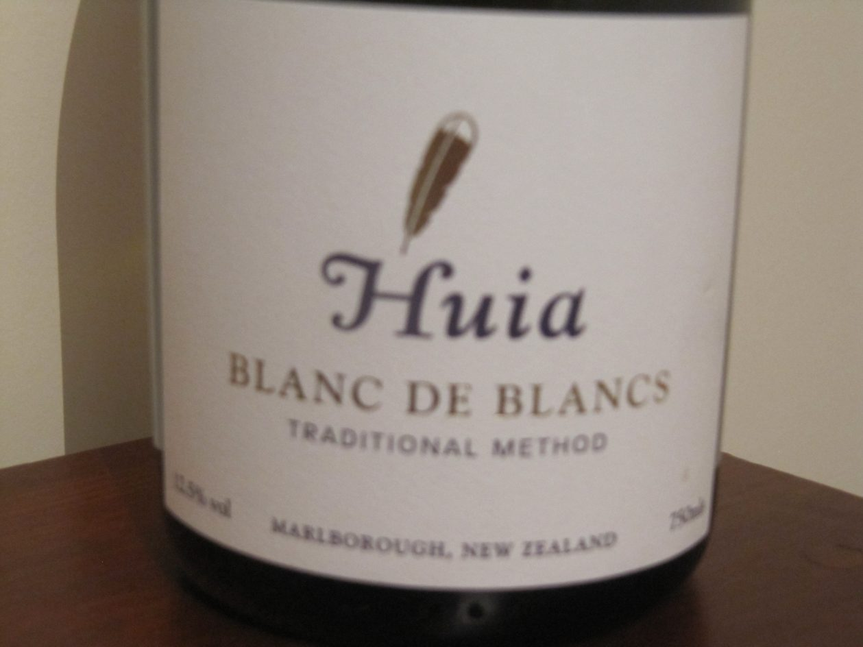 Huia, Blanc de Blancs, Traditional Method, Marlborough, New Zealand